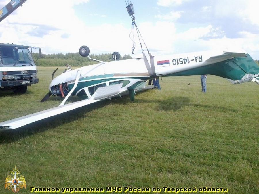 В Твери при посадке пострадал самолет