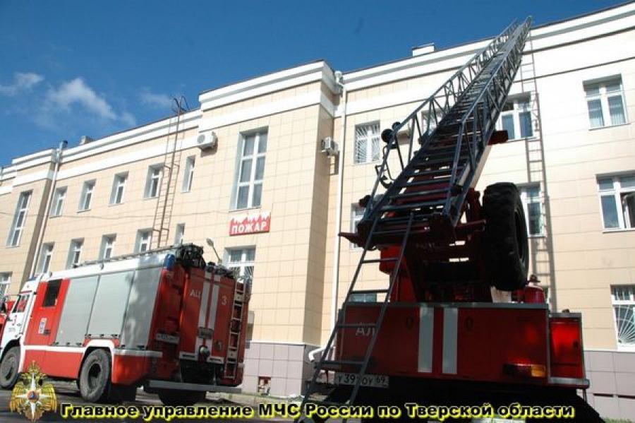 В Тверском областном суде тушили учебный «пожар»