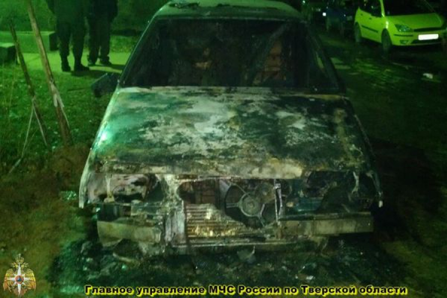 В Ржеве сгорел автомобиль