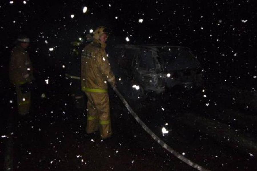 В Вышневолоцком районе сгорел гараж с автомобилем