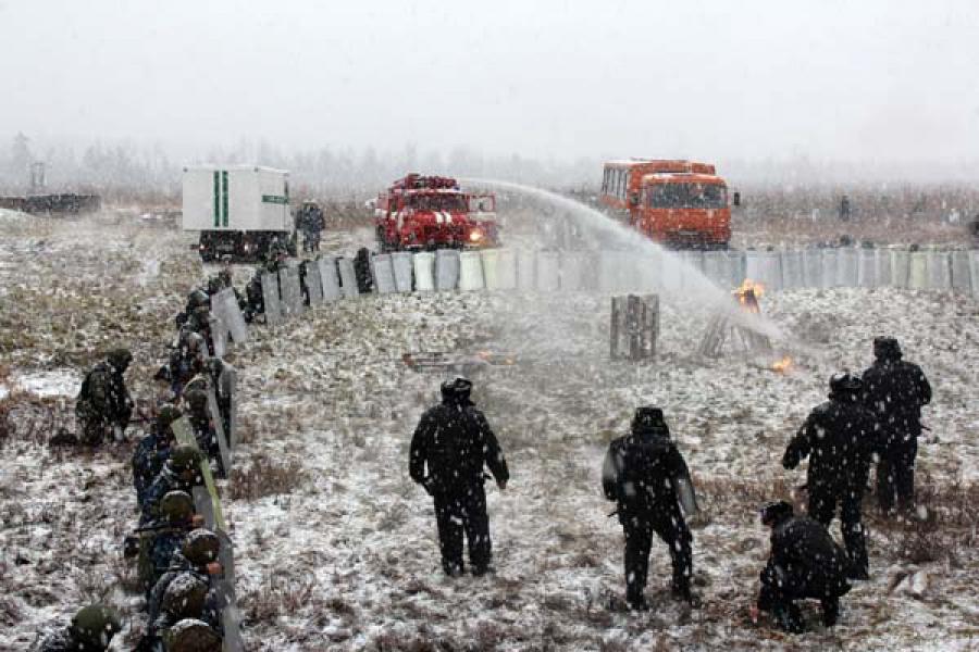 Учения по ликвидации беспорядков в исправительном учреждении провели УФСИН, УМВД и военные