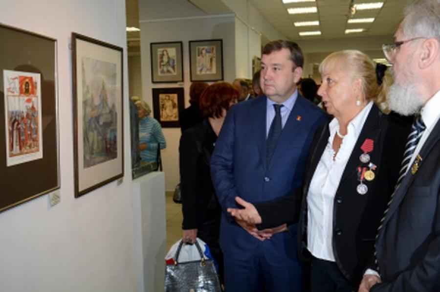Тверское отделение Союза художников России отметило 75-летний юбилей выставкой