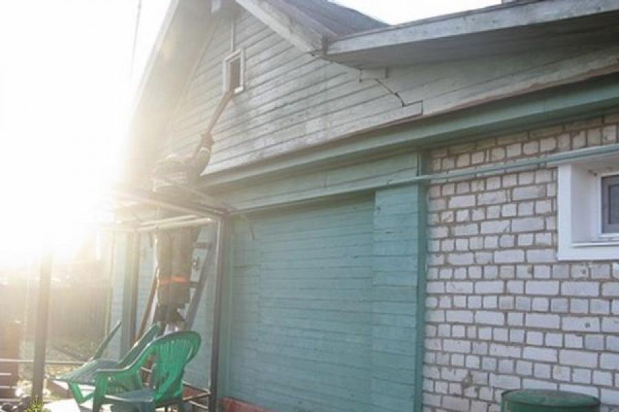 В Тверской области горели жилые дома