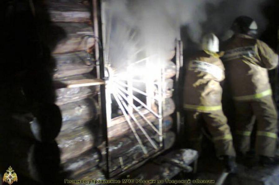 На пожаре в Спировском районе пострадал человек