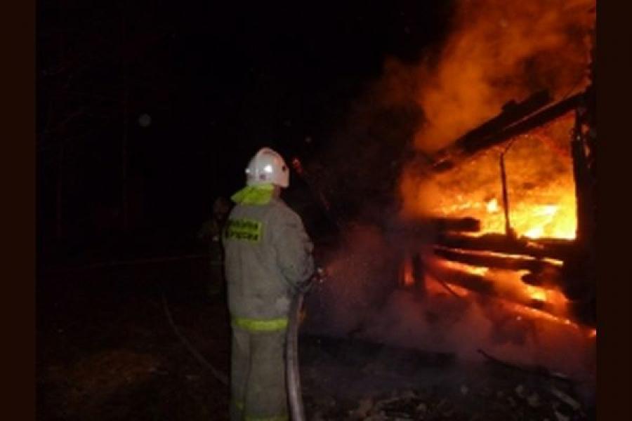 Дача сгорела в результате поджога