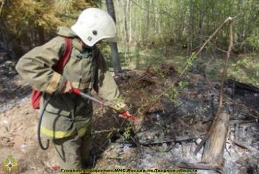 В Калининском районе зафиксирован торфяной пожар