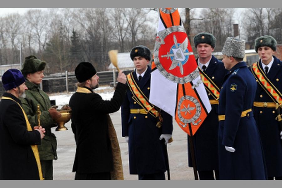 В Мигаловском авиаполку прошел ритуал вручения Боевого знамени