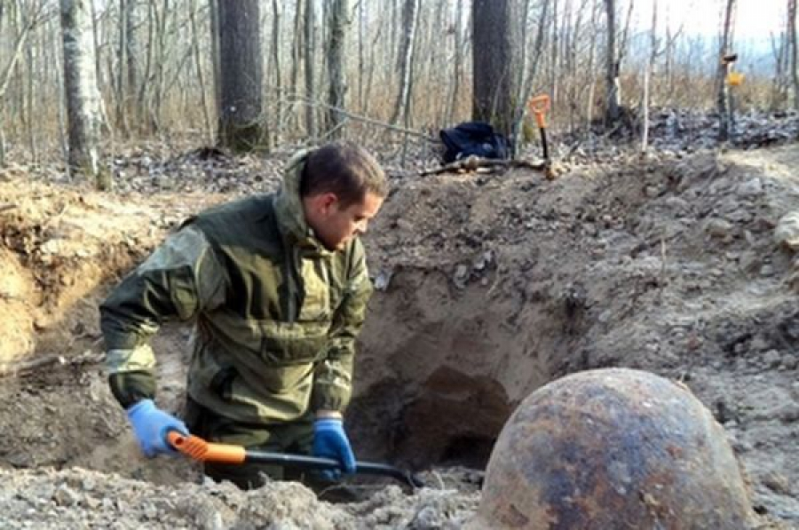 В Бельском районе найдены останки 17 воинов, павших здесь в 1941 году