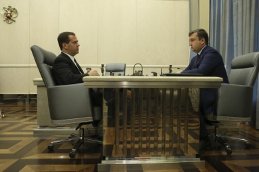 Дмитрий Медведев пообещал поддержку проекту строительства Западного моста в Твери
