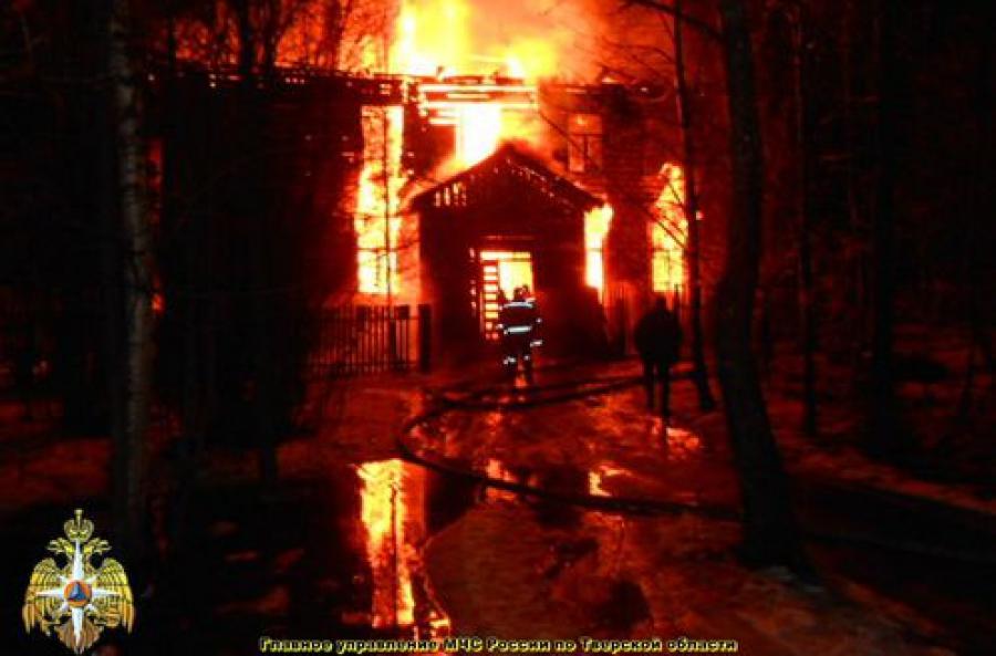 В Максатихе сгорел жилой дом