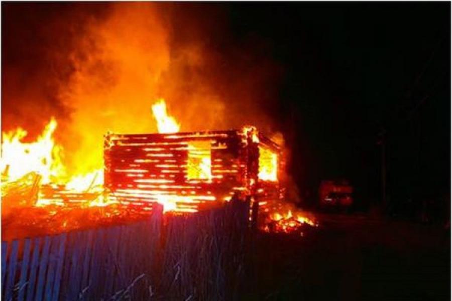 В Кимрском районе на пожаре пострадал человек