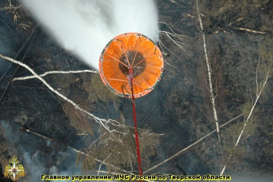 Борьбу с лесными пожарами ведут с земли и с воздуха