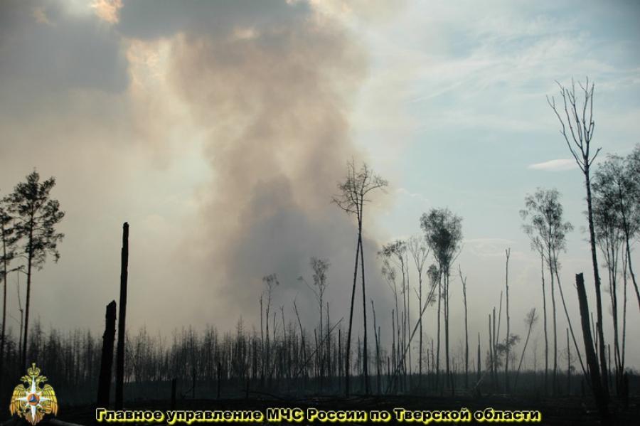 Дым в Твери: защищаемся и ждем ликвидации пожара в Конаковском районе