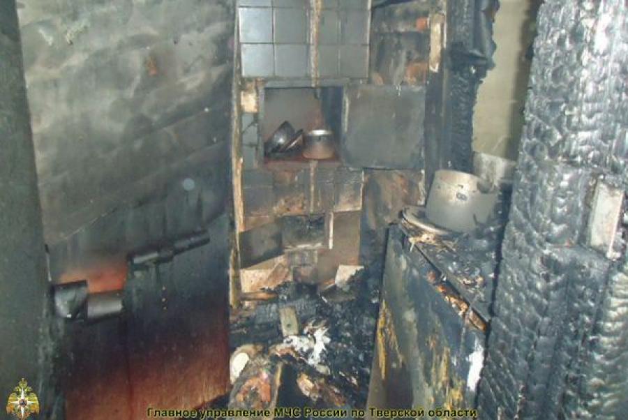 При пожаре в Тверской области пострадали люди