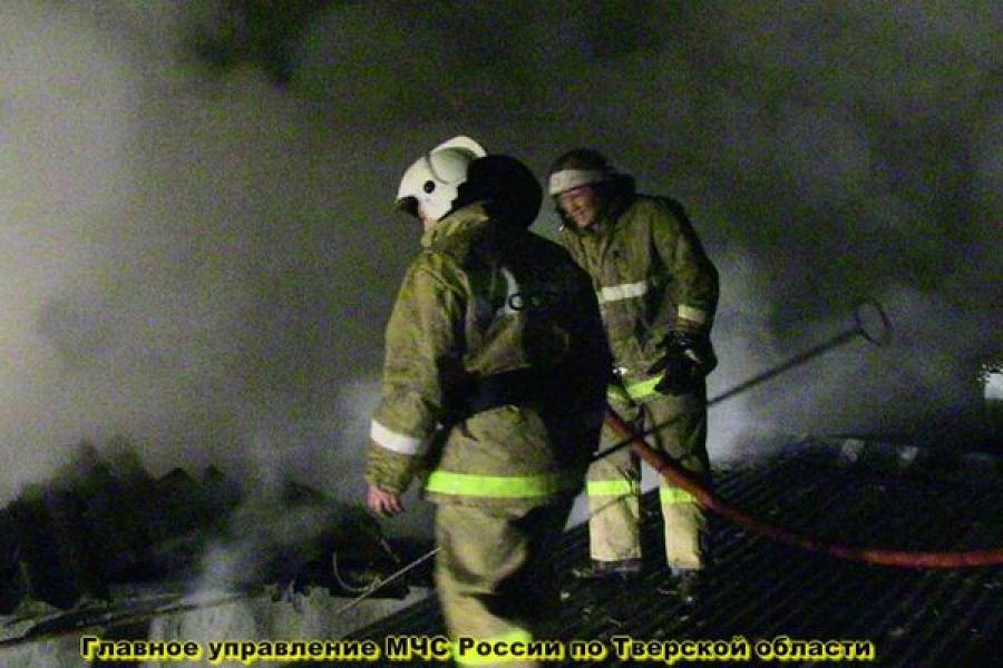 В Тверской области сгорели две бани