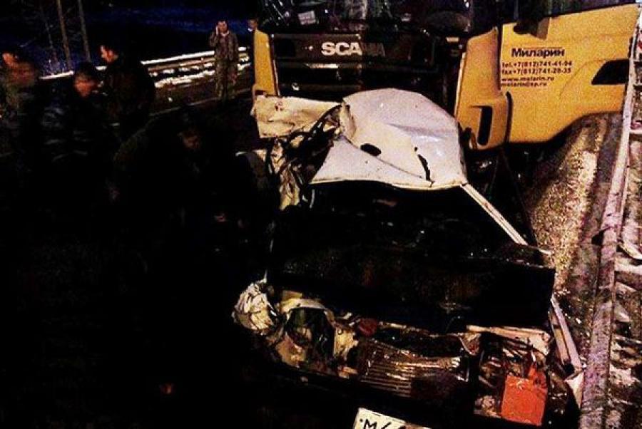 В Калининском районе столкнулись 8 автомобилей