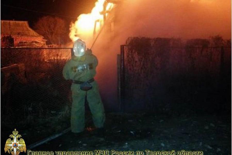 В Тверской области дотла сгорела дача