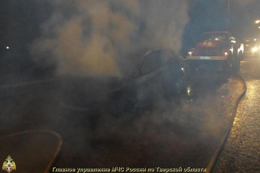 За ночь в Тверской области сгорели два автомобиля