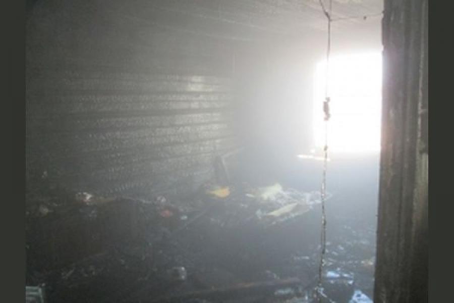 Неосторожное обращение с огнем привело к пожару