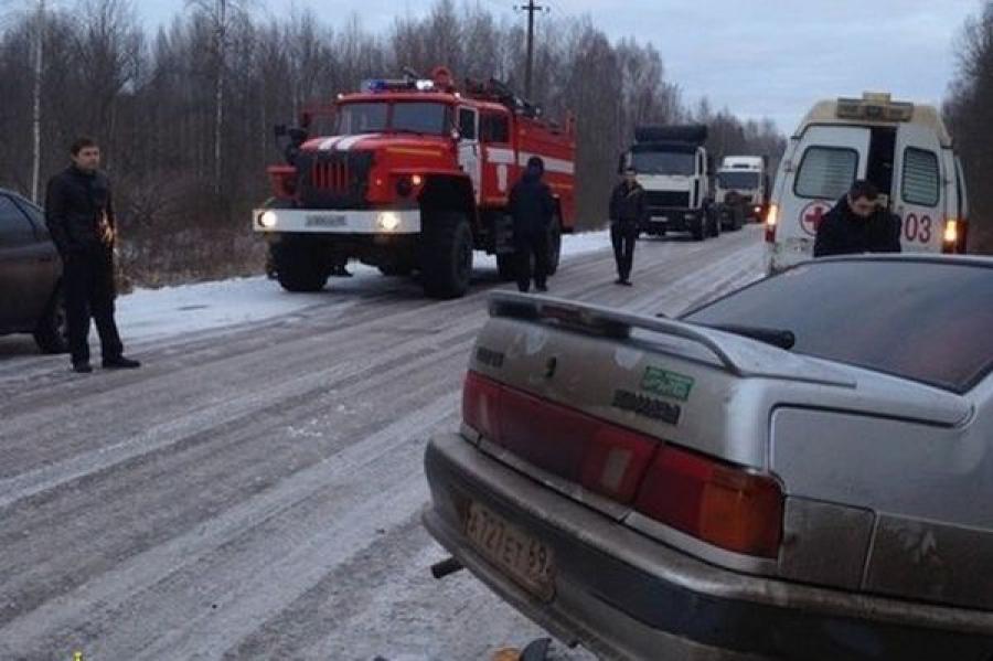 В Кимрском районе в лобовом столкновении автомобилей пострадал человек