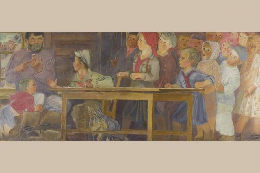Посмотреть на детские сады глазами российских художников можно в Тверской картинной галерее