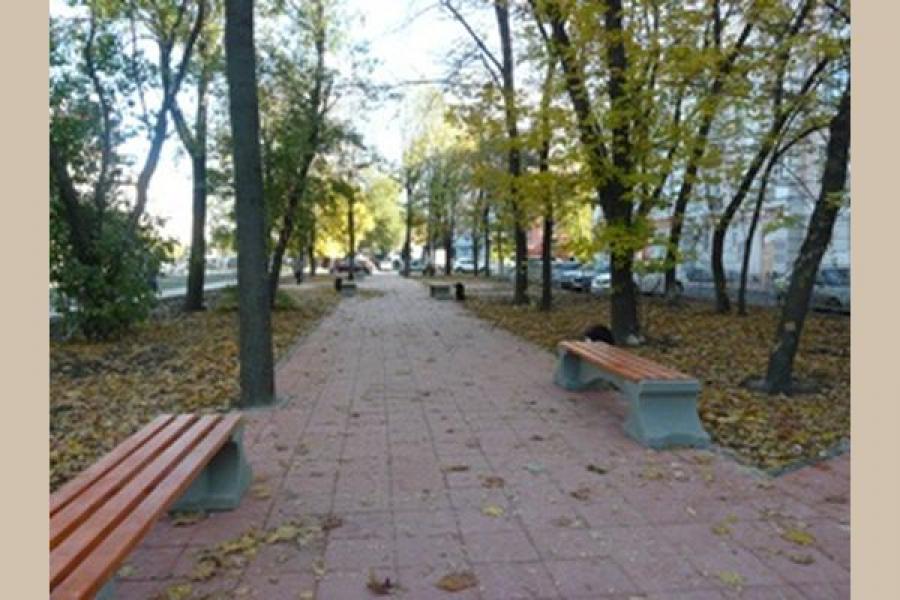 В Твери благоустроили сквер на проспекте Чайковского