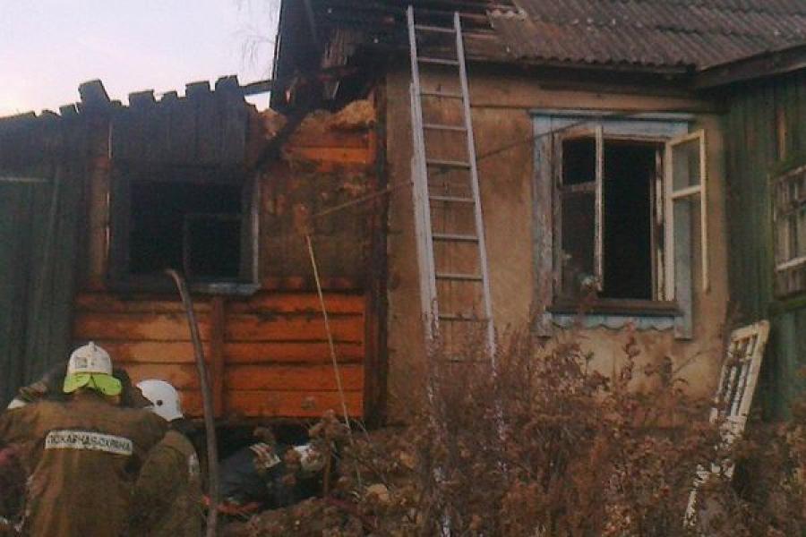На пожаре в Твери пострадал человек