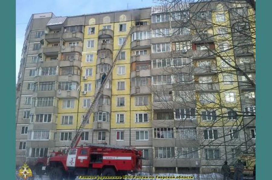 Квартира на 9-м этаже горела в микрорайоне «Юность»