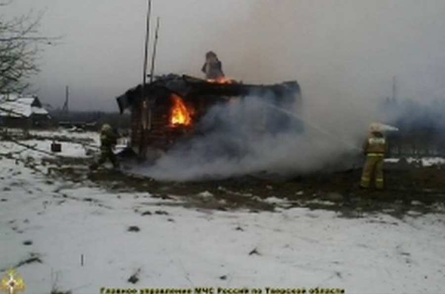 Из-за неправильной эксплуатации печи в Кашинском районе сгорела баня