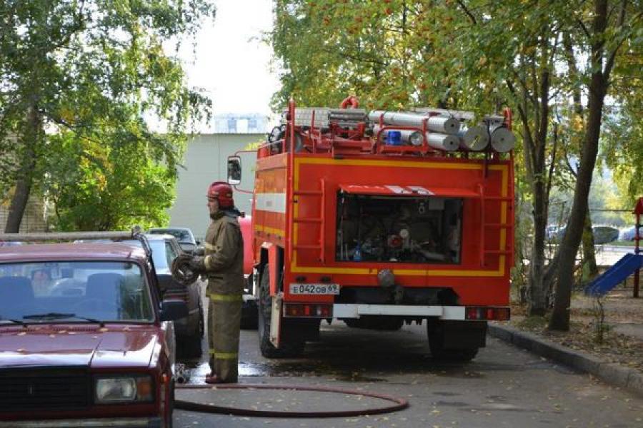 На пожаре в Торопецком районе пострадал человек