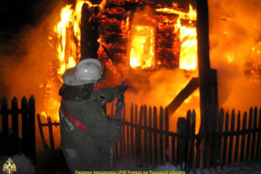 В Твери горел жилой дом