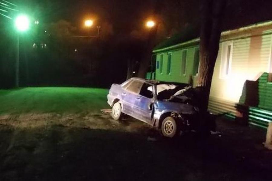 При столкновении с деревом водитель легковушки получил перелом
