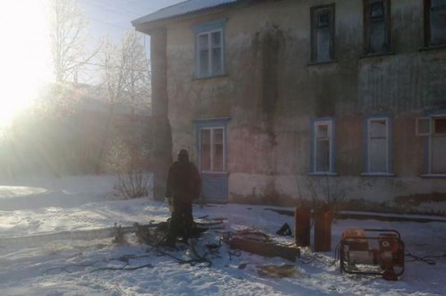 В поселке Орша переморозили теплотрассу — несколько домов остались без отопления
