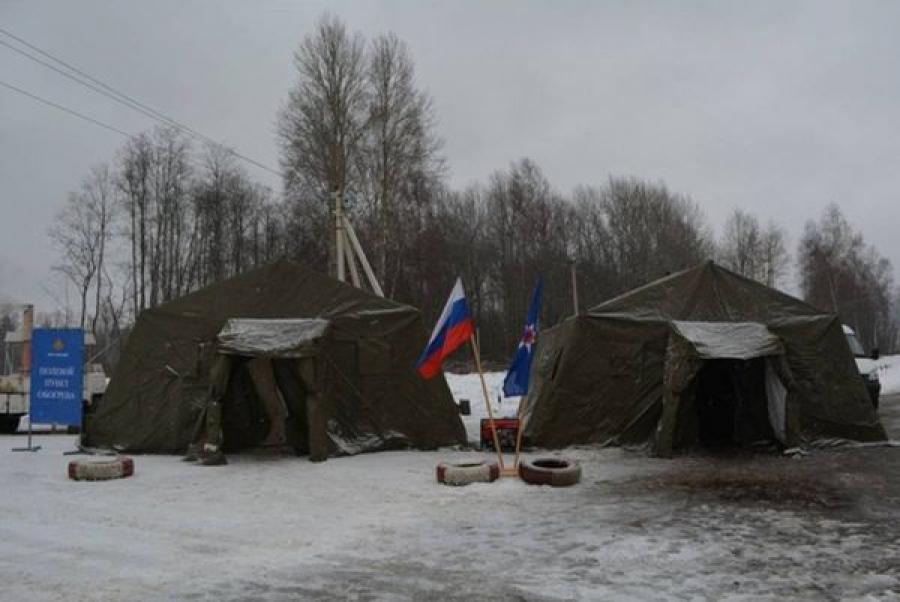 ГУ МЧС подготовилось к холодам: на трассах региона развернуто 18 пунктов обогрева