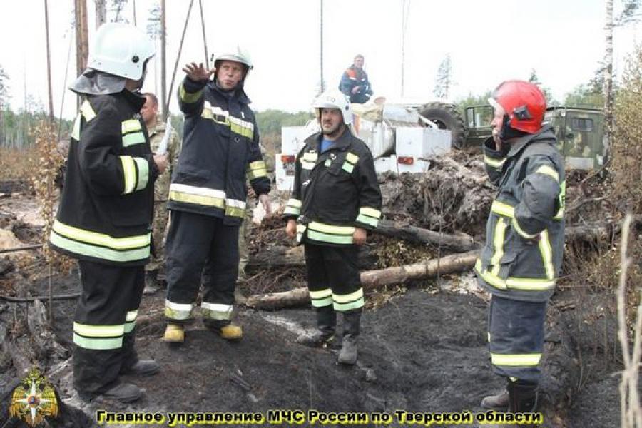 Ситуацию с пожарами в Тверской области оценил замминистра МЧС