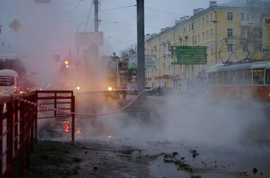 В Заволжье произошла авария на трубопроводе