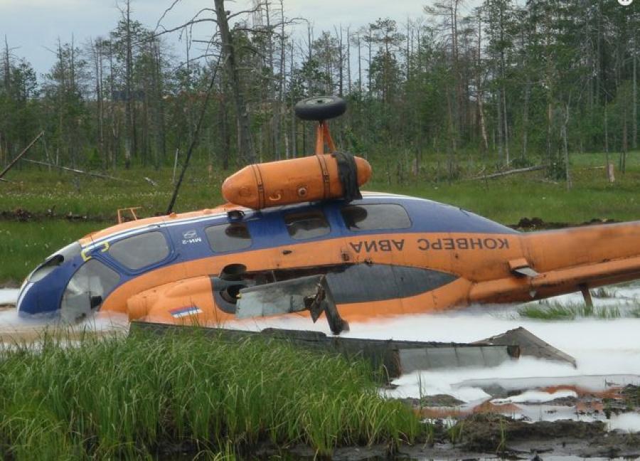 В Сургуте потерпел крушение вертолет тверской компании «Конверс Авиа»