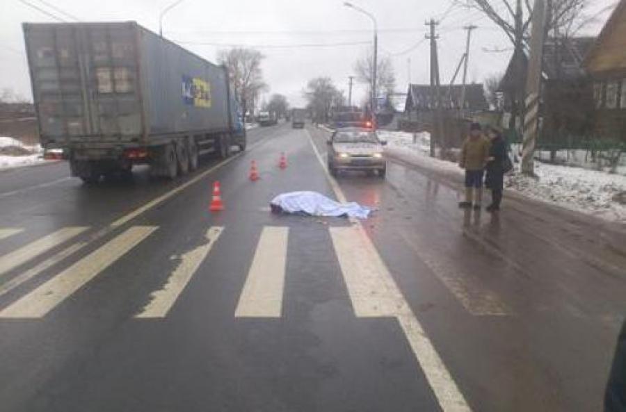 На трассе М-10 неизвестный насмерть сбил старушку и скрылся