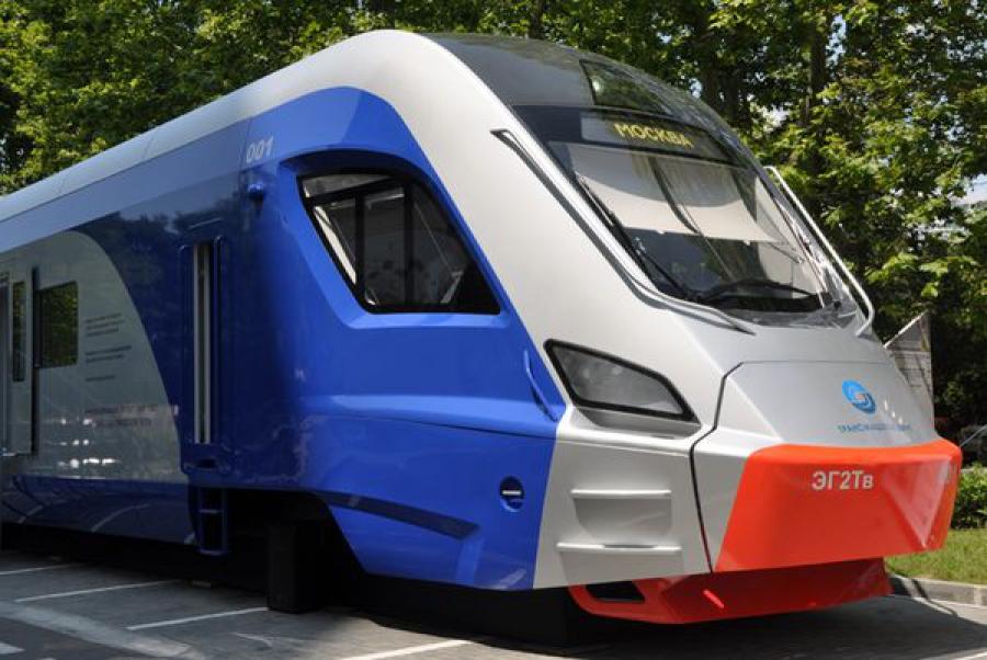 Новый электропоезд, созданный на ТВЗ, увидели в Сочи