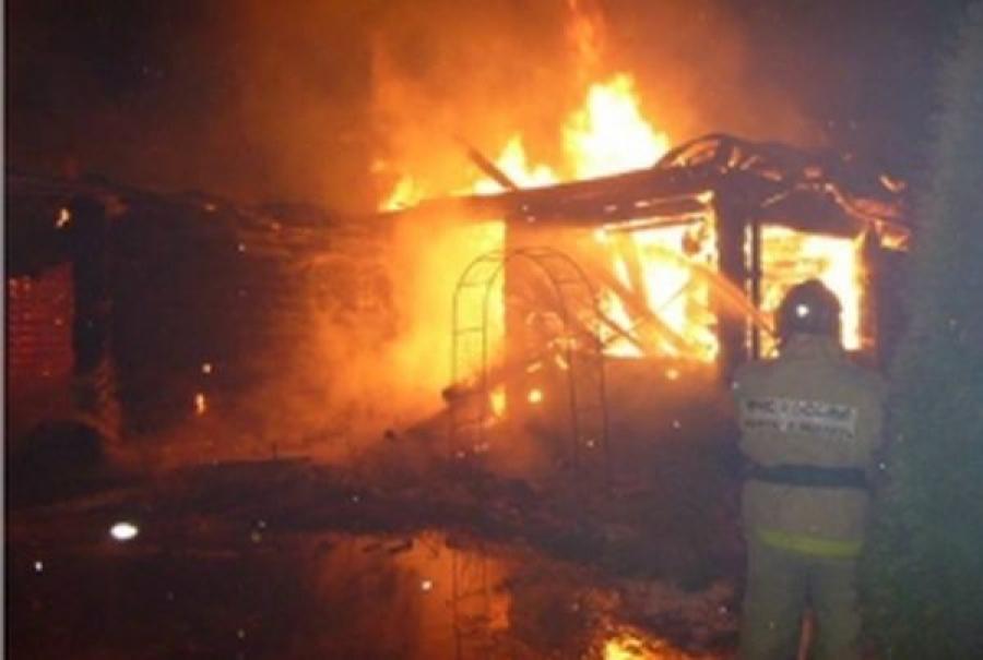 На пожаре в Вышневолоцком районе пострадал человек