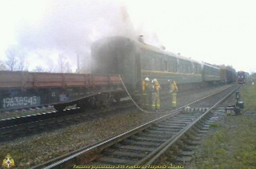 Вагон маневрового поезда горел в Нелидово