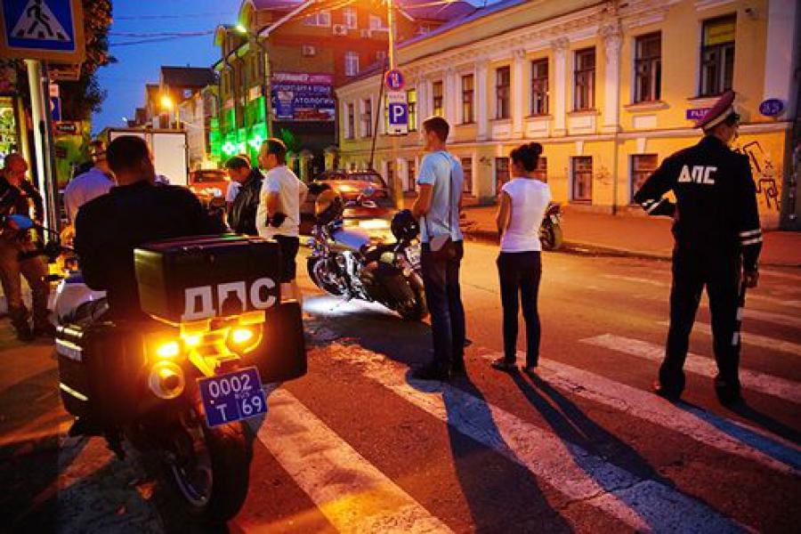 Мотоциклисты прошли проверку ГИБДД