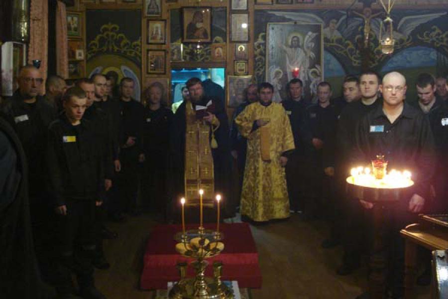 В дар храму в тверской колонии №1 передана частица мощей святителя Спиридона Тримифунтского
