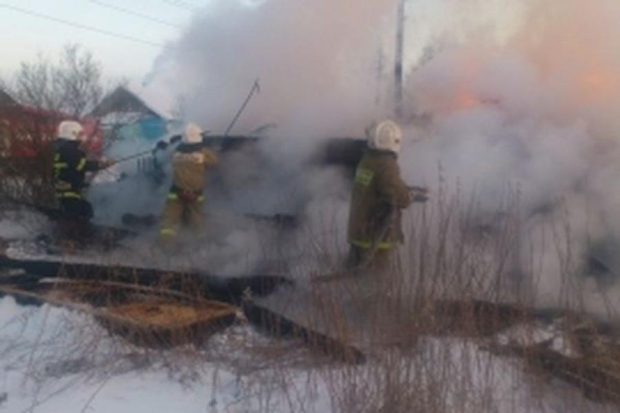 В Удомельском районе сгорел жилой дом