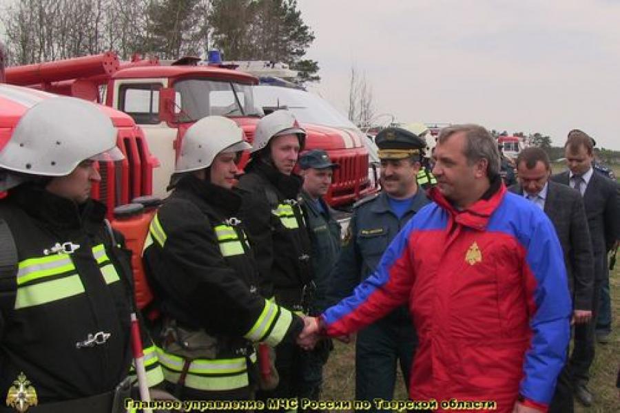 Глава МЧС России осмотрел Тверскую область с воздуха