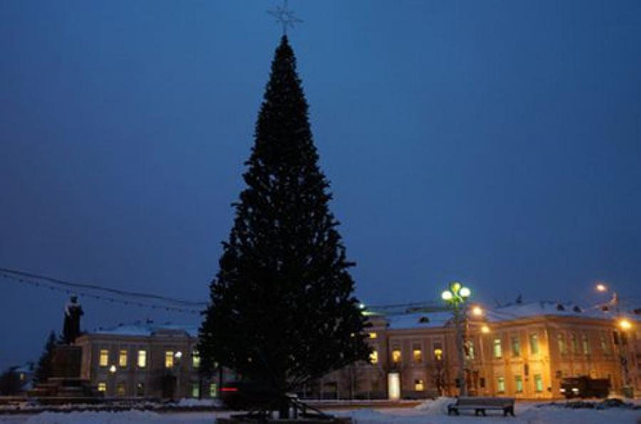 На площади Ленина установлена главная городская ель