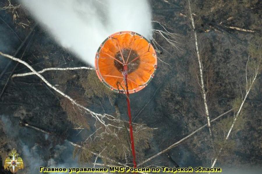 Продолжается борьба с природными пожарами в двух районах Тверской области