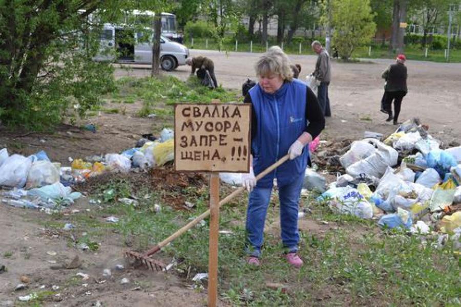 Жители Твери наводят порядок в городе