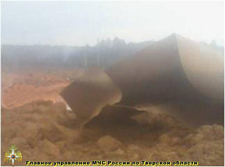 В Тверской области произошел разрыв газопровода