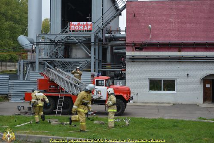Учебный пожар произошел в «Сибур-ПЭТФ»